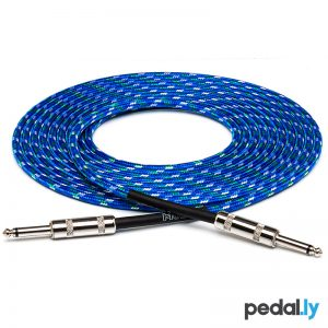 Hosa Blue Cloth Guitar Cable from Pedally 3GT-18C2