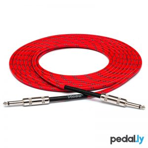 Hosa Red Cloth Guitar Cable from Pedally 3GT-18C3