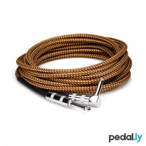 Hosa Straight to Right Angle Tweed Guitar Cable from Pedally GTR-518R