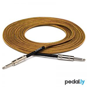 Hosa Straight-Same Tweed Guitar Cable from Pedally GTR-518