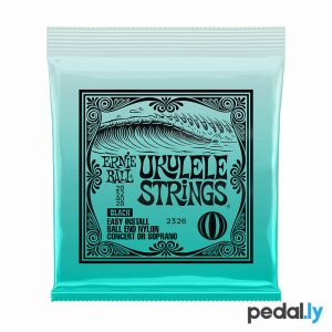 Ernie Ball Black Ukulele Strings from Pedally P02326