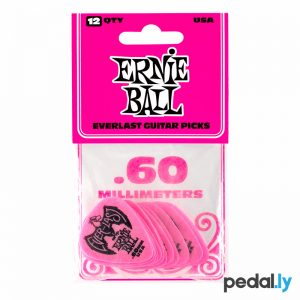 Ernie Ball .60mm Pink EverLast Delrin Guitar Pick from Pedally P09179