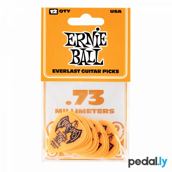 Ernie Ball .73mm Orange EverLast Delrin Guitar Pick from Pedally P09190