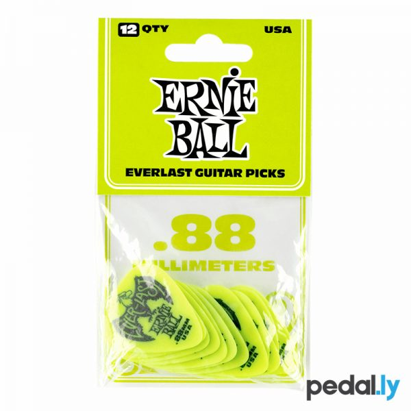 Ernie Ball .88mm Green EverLast Delrin Guitar Pick from Pedally P09191