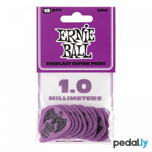 Ernie Ball 1.0mm Purple EverLast Delrin Guitar Pick from Pedally P09193