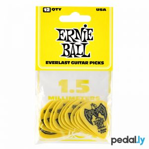 Ernie Ball Yellow 1.5mm EverLast Delrin Guitar Pick from Pedally P09195