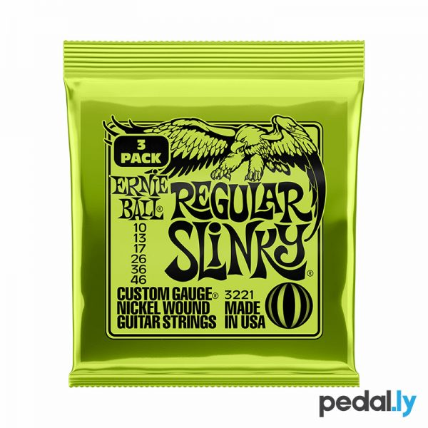 Ernie Ball Regular Slinky 10-46 3 pack P03221 Electric Guitar Strings from Pedally