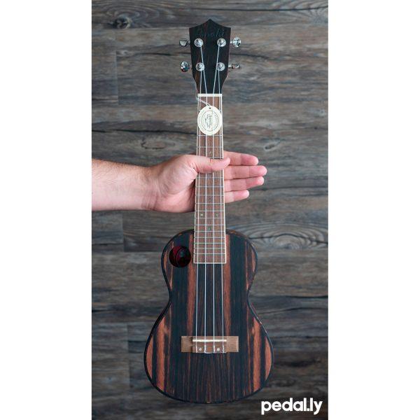 Amahi concert size ebony wood ukulele from Pedally
