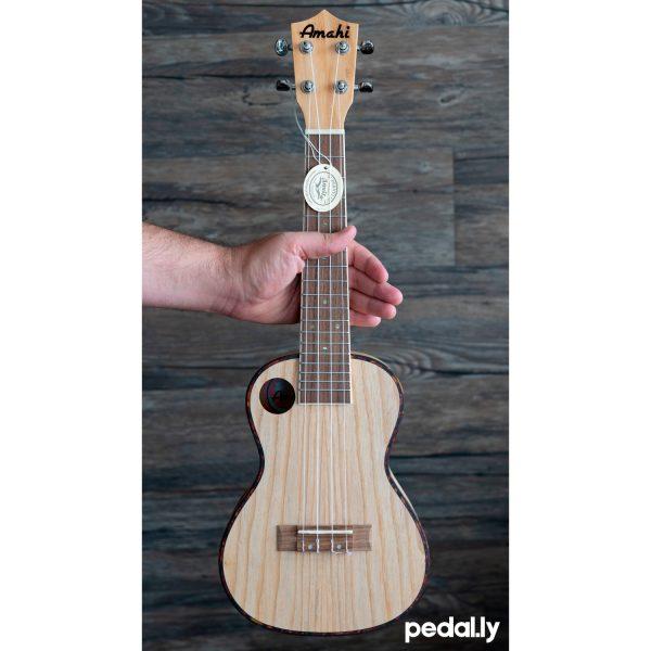 Amahi concert size quilted ash ukulele from Pedally