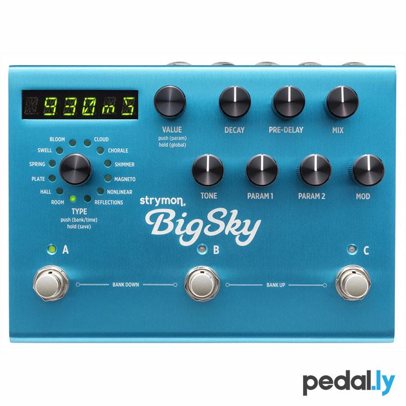 Strymon BigSky Multidimensional Reverberator Reverb Pedal from Pedally Z12A-BSKY
