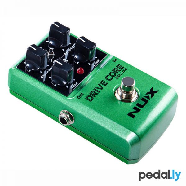 NUX Drive Core Deluxe Overdrive Boost Pedal from Pedally side view