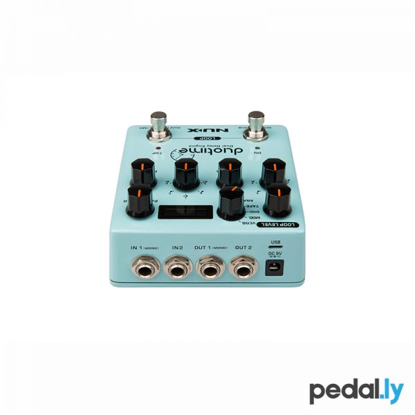 NUX Duotime Dual Delay Engine Pedal from Pedally top view
