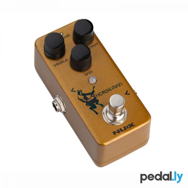 NUX Horseman klon clone Pedal from Pedally side view