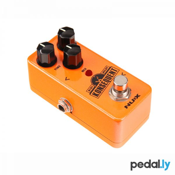 NUX Konsequent Digi Delay Pedal from Pedally side view