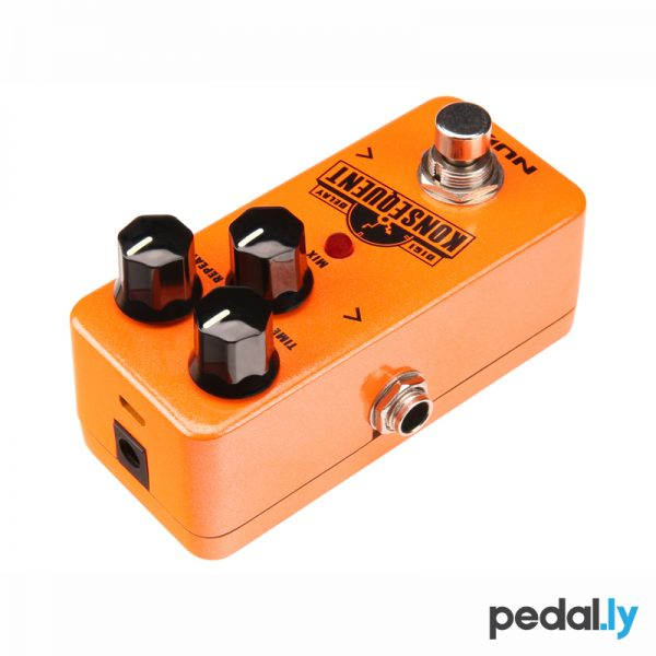 NUX Konsequent Digi Delay Pedal from Pedally top view