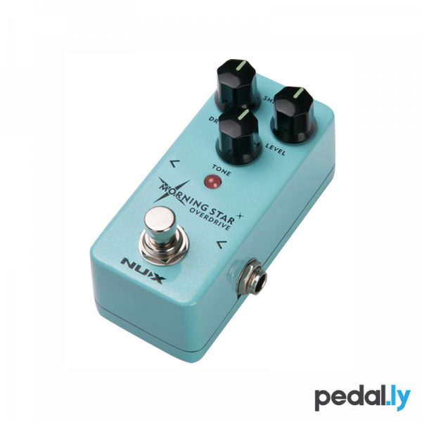 NUX Morning Star Overdrive Pedal from Pedally side view