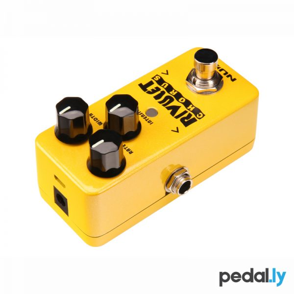 NUX Rivulet chorus pedal from Pedally top view